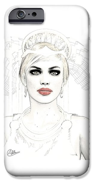 Hera iPhone Cases - Goddess Hera iPhone Case by Joaquin Abella