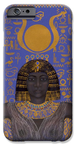 Goddess Isis iPhone Case by Diana Perfect