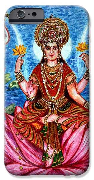 Recently Sold -  - Hindu Goddess iPhone Cases - Goddess Lakshmi iPhone Case by Harsh Malik