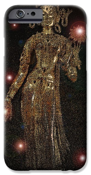 Hindu Goddess iPhone Cases - Goddess Magic by jrr iPhone Case by First Star Art