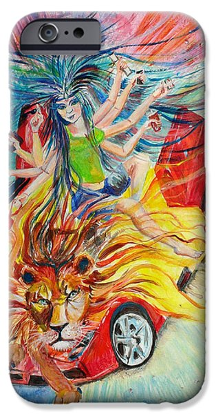 Goddess of 21st C iPhone Case by Sarabjit Singh