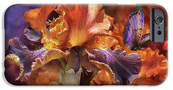 Iris iPhone Cases - Goddess Of Miracles iPhone Case by Carol Cavalaris