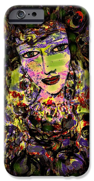 Lips iPhone Cases - Goddess Of Nature iPhone Case by Natalie Holland