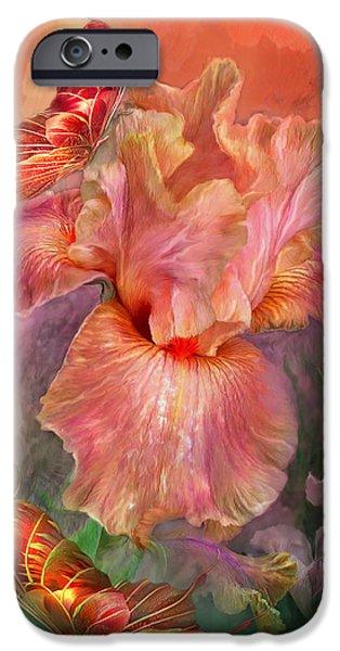 Iris iPhone Cases - Goddess Of Spring iPhone Case by Carol Cavalaris
