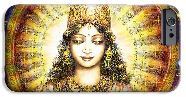 Recently Sold -  - Hindu Goddess iPhone Cases - Goddess of Stars iPhone Case by Ananda Vdovic