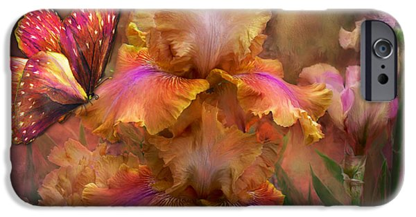 Floral Art iPhone Cases - Goddess Of Sunrise iPhone Case by Carol Cavalaris