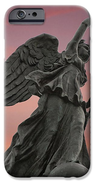 Goddess of Victory and Peace iPhone Case by Wayne Letsch