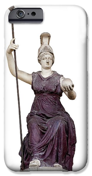 Cut-outs iPhone Cases - Goddess Roma Triumphans iPhone Case by Fabrizio Troiani