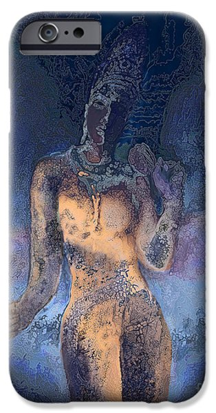 Hindu Goddess iPhone Cases - Goddess iPhone Case by Ursula Freer