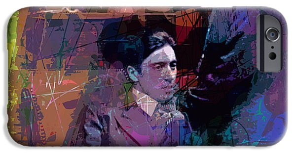 Francis Ford Coppola iPhone Cases - Godfather And Son iPhone Case by David Lloyd Glover