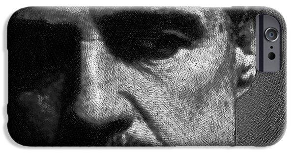 Francis Ford Coppola iPhone Cases - Godfather Marlon Brando iPhone Case by Tony Rubino