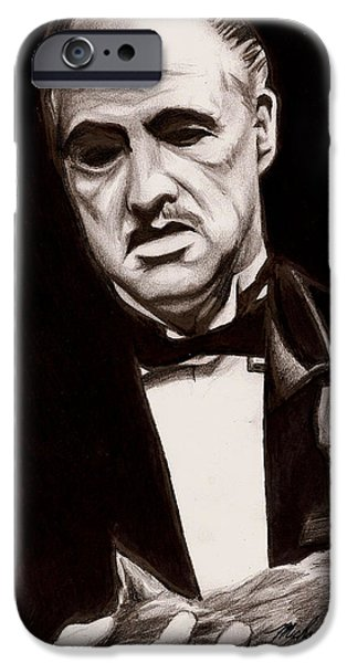 Francis Ford Coppola iPhone Cases - Godfather iPhone Case by Michael Mestas