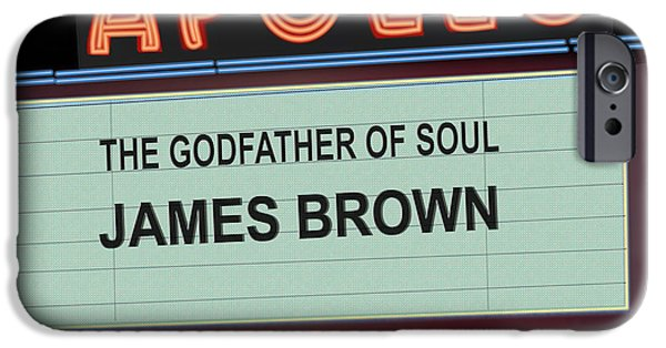 Harlem iPhone Cases - Godfather of Soul iPhone Case by Michael Lovell