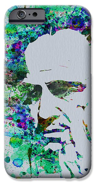 Tv Show iPhone Cases - Godfather Watercolor iPhone Case by Naxart Studio