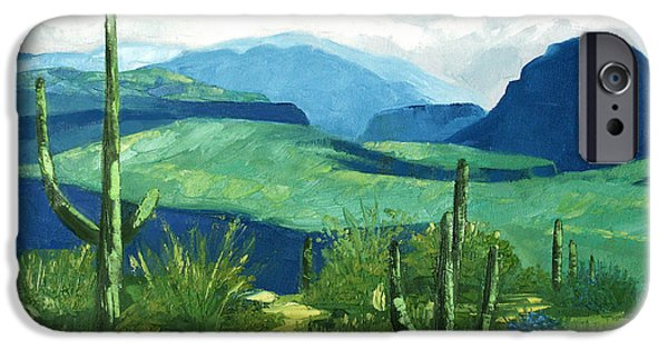 Landscape Acrylic Prints iPhone Cases - Gods Country iPhone Case by Anthony Falbo