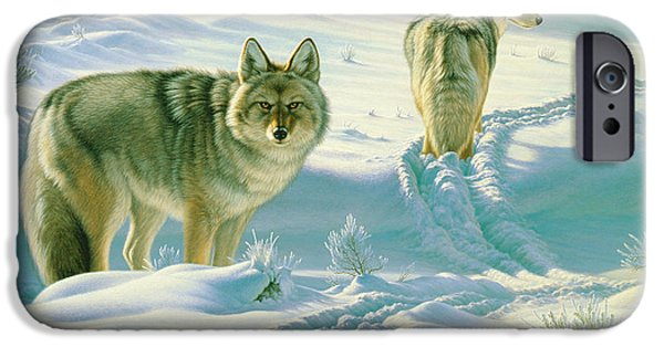 Coyote iPhone Cases - Gods Dogs iPhone Case by Paul Krapf