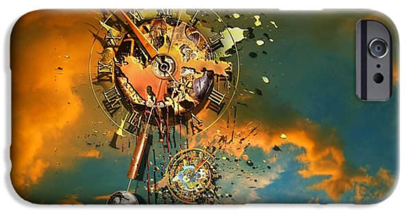 Clockwork iPhone Cases - Gods dusk iPhone Case by Franziskus Pfleghart