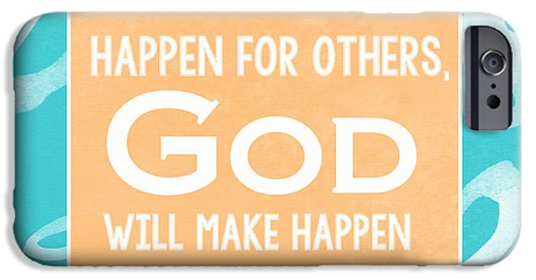 Sign iPhone Cases - Gods Gift - blue iPhone Case by Linda Woods