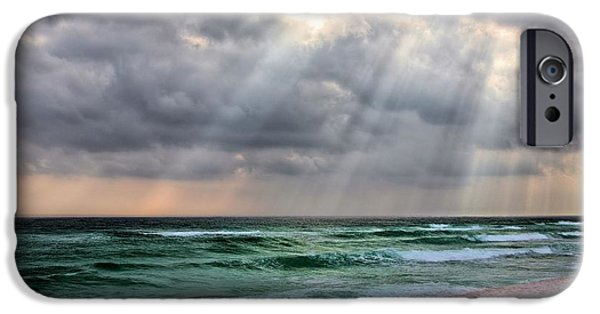 Florida Panhandle iPhone Cases - Gods Light Shines Down on Destin iPhone Case by JC Findley
