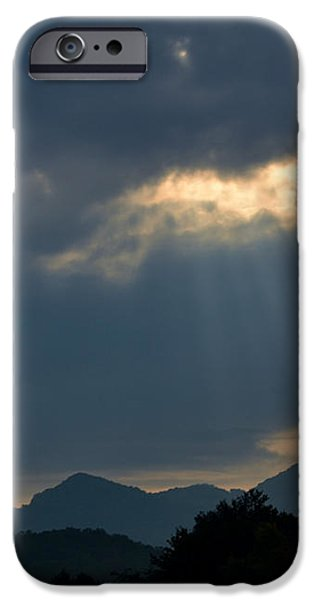 Gods Morning Rays iPhone Case by Eva Thomas
