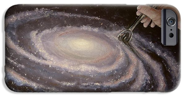 Intergalactic Space Paintings iPhone Cases - Godspeed iPhone Case by Luke Horowitz