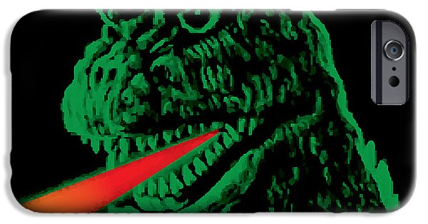 Culture Digital iPhone Cases - Godzilla iPhone Case by Gary Grayson