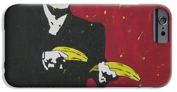 Al Pacino iPhone Cases - Going Bananas iPhone Case by Maria Masella