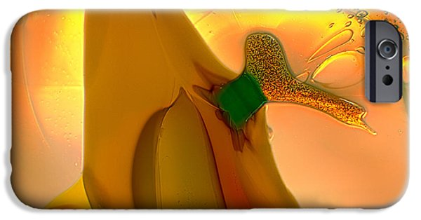 Nature Abstracts Glass iPhone Cases - Going Bananas iPhone Case by Omaste Witkowski