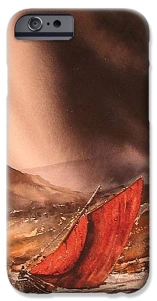Abstract Seascape iPhone Cases - Going For Home iPhone Case by Roland Byrne