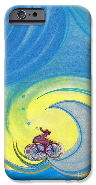 Mixed Media Pastels iPhone Cases - Going For It by jrr iPhone Case by First Star Art