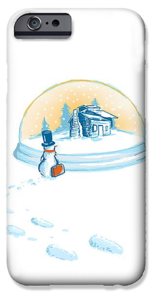Xmas iPhone Cases - Going home iPhone Case by Budi Satria Kwan