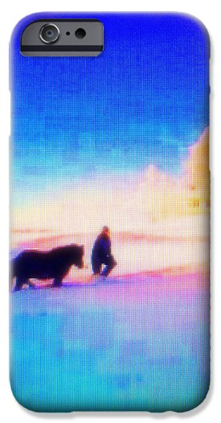 Temperament iPhone Cases - Going Home iPhone Case by Hilde Widerberg