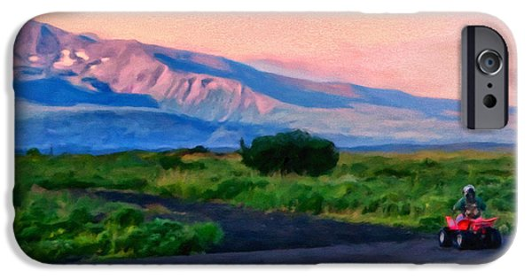 Cold Paintings iPhone Cases - Going to School Cold Bay Style iPhone Case by Michael Pickett