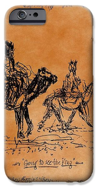 Going To See The King - Sketch iPhone Case by Glenn McCarthy Art and Photography