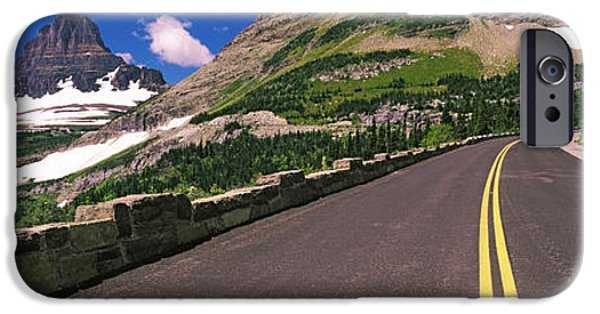 Mountain Road iPhone Cases - Going-to-the-sun Road At Us Glacier iPhone Case by Panoramic Images