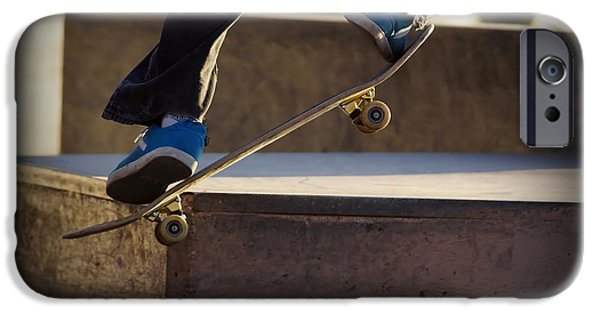 Skateboard iPhone Cases - Going up iPhone Case by Ernie Echols