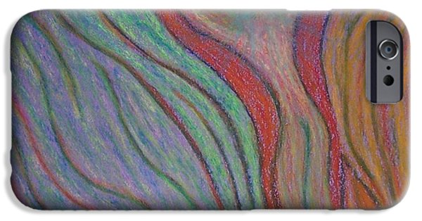 Spiritual Pastels iPhone Cases - Going with the Flow iPhone Case by Jamie Rogers