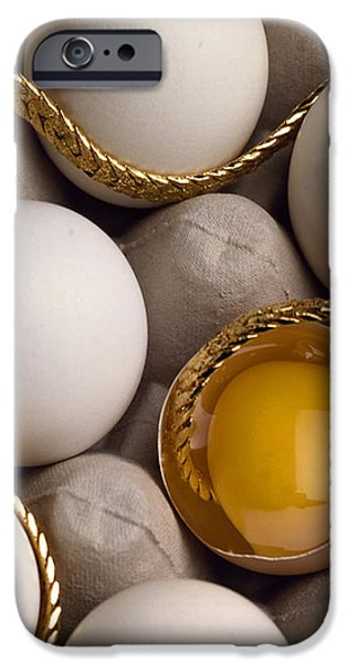 Gold And Eggs iPhone Case by J L Woody Wooden