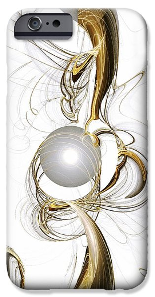 Decoration iPhone Cases - Gold and Pearl iPhone Case by Anastasiya Malakhova