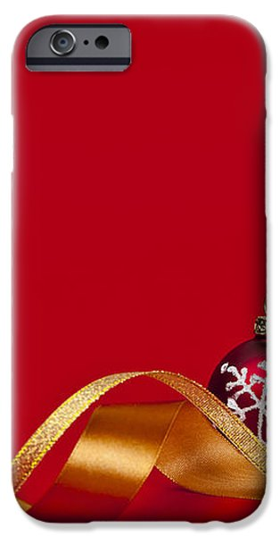 Gold and red Christmas decorations iPhone Case by Elena Elisseeva