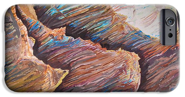 Landscapes Reliefs iPhone Cases - Gold Canyon relief iPhone Case by Mike Dendinger