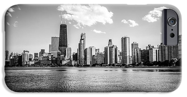 Hancock Building iPhone Cases - Gold Coast Skyline in Chicago Black and White Picture iPhone Case by Paul Velgos