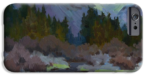 Creek iPhone Cases - Gold Creek Snoqualmie Pass iPhone Case by Diane McClary