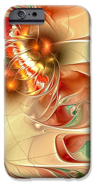 Curve iPhone Cases - Gold Fish iPhone Case by Anastasiya Malakhova