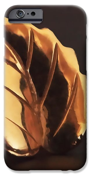 Gold Leaf iPhone Case by Rona Black
