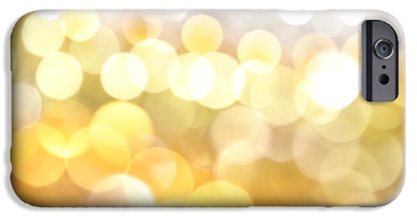 Abstract Digital Photographs iPhone Cases - Gold on the Ceiling iPhone Case by Dazzle Zazz