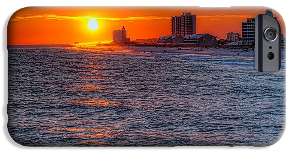 Florida iPhone Cases - Gold Over the Beach iPhone Case by Tim Stanley