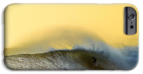 Surfing iPhone Cases - Gold Shack iPhone Case by Sean Davey