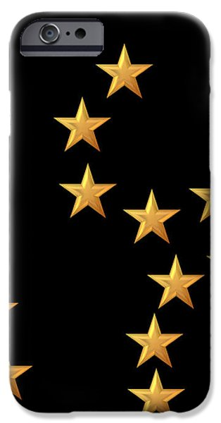 Gold Stars Abstract Triptych Part 2 iPhone Case by Rose Santuci-Sofranko