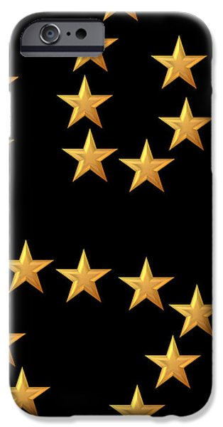 Gold Stars Abstract Triptych part 3 iPhone Case by Rose Santuci-Sofranko